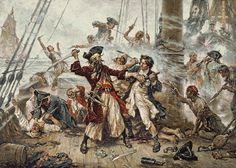 "Capture of the Pirate Blackbeard, 1718  ""Avast, ye landlubbers!"": Where does the pirate accent come from?"
