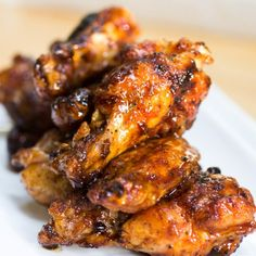 spicy crispy chicken wings, grilled not fried!