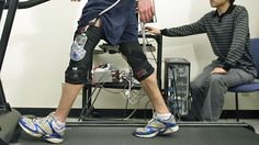 [][][] British scientists have developed a device, similar to this one, that exploits the mechanics of human walking to generate electricity.