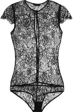 Kiki de Montparnasse Coquette Lace Bodysuit #lingerie