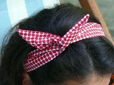 - Bee made - Hairstyles 02 Pop Couture, Couture Sewing, Bandanas, Diy Headband, Headbands, Sewing Hacks, Sewing Tips, Natural Hair Styles, Girly