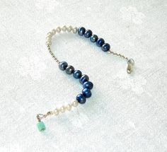 Sterling Silver Bracelet No 9  925S Freshwater by dewildjewellery