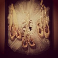 Ballet shadow box--all 4 years! Do you know how big it would have to be to hold yours? LOL