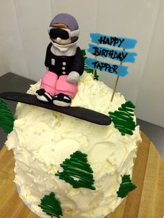 Snowboarder Cake by Whippt Desserts & Catering