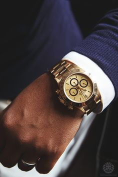 Gold Rolex Daytona. www.ChronoSales.com for all your luxury watch needs, sign up for our free newsletter, the new way to buy and sell luxury watches on the internet. #ChronoSales