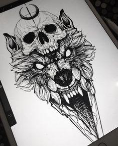 Cat Tattoo Face - Back Tattoo Drawings - - - Tattoo Ideen Fuss - Wolf Tattoos, Skull Tattoos, Body Art Tattoos, Girl Tattoos, Tattoos For Guys, Animal Tattoos, Tattoo Art, Cool Guy Tattoos, Spirit Animal Tattoo