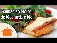 Receita deliciosa e fácil de Salmão Grelhado com molho de mostarda e mel. Ingredientes do molho para cada pedaço de salmão: - 2 colheres (sopa) de mostarda c...