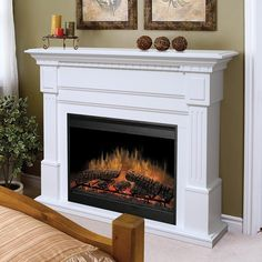 Wolf's can warm you up with an electric fireplace this winter!