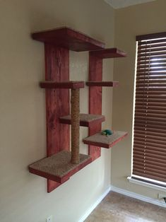 Wall mounted cat tree I made for the cutest cats in the world.