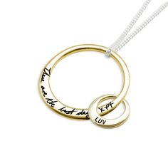 The mother and child pendants in 9ct gold. Engraved with Uberkate font or #yourscript #yourhandwriting https://www.uberkate.com.au/product-details.php?iD=2015