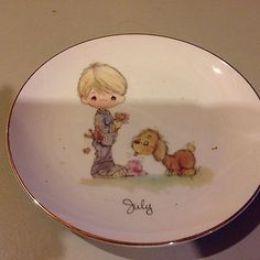 Precious Moments Collectible Birthday Plate July