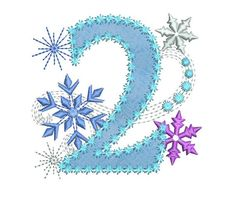 Ice Princess Number 2 Frozen Happy Birthday Cloth Decor Applique Machine Embroidery Design for Girls Happy Birthday Princess, Frozen Birthday Theme, Frozen Theme, Ice Princess, Frozen Font, Frozen 2, Embroidery Fonts, Machine Embroidery Designs, Applique Designs