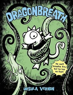 Dragonbreath by Ursula Vernon is a chapter book/graphic novel hybrid about Danny Dragonbreath, the only mythical creature in a school filled with reptiles and amphibians. A great summer read! (Ursula is a contributor to Comics Squad: Recess!, which is out July 8th!)
