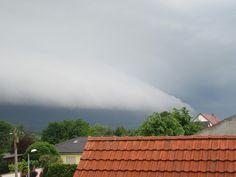 Unwetterwolken am Horizont  Neu Dessau 31.05.2016