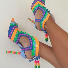 Sophia Webster | Riri Hot Shoes, Crazy Shoes, Me Too Shoes, Shoes Heels, Wedge Boots, Shoe Boots, Splendid Shoes, Glass Shoes, Blazers