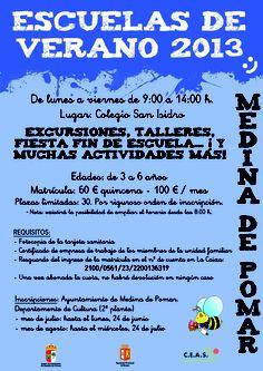 Julio-Agosto 2013 Escuela de Verano. Medina de Pomar