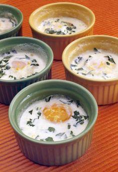 Shirred (baked) eggs. Easy, tasty and lovely. #stribtaste #brunch