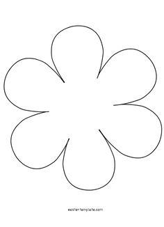 petal flower template permalink. petal template. 5 petal flower ...