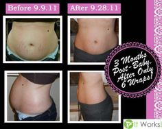 Skinny Wrap not only do they tighten tone and firm they help with saggy skin and stretch marks! Results last typically 2-6 months depending on your lifestyle. Message Hannah for more info 903-504-1482 http://hannahbutler.myitworks.com