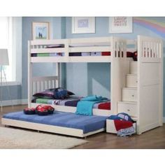 Buy Neutron Bunk Bed With Stair Storage - White from our Bunk Beds range - Tesco.com