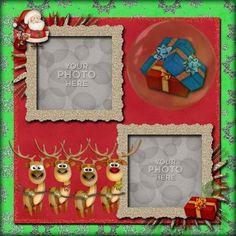 Digital Scrapbooking Kits | Sweet Santa Template-(CatDes) | Celebrations, Family, Friends, Holidays - Christmas | MyMemories