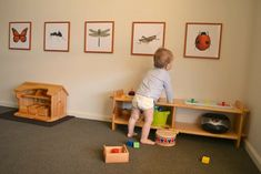 Large prints for his room - how we montessori Montessori Toddler Rooms, Toddler Playroom, Montessori Bedroom, Infant Classroom, Ideas Hogar, Montessori Materials, Kid Spaces, Kids Education, Kids Decor
