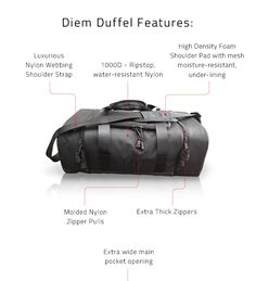 The Diem Duffel is a great option for traveling or even the gym! It's a heavy-duty duffel with a water-resistant exterior. It comes with a waterproof washable laundry bag for you to put wet and/or dirty clothes into and toiletry bag. This duffel bag will fit in the overhead so use as a carry on! The Diem Duffel is a great piece of luggage and the perfect alternative to a suitcase. Don't forget to pack your ANGLZ Media case too!