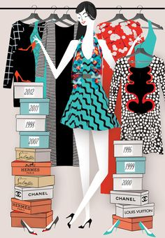 an illustration for an article in @The Gloss Magazine in Saturdays @Mary Capitan
