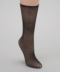 Take a look at this Black Fishnet Socks by Anna Sui on #zulily today!