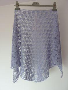 Châle bleu, en alpaga et soie, tricoté main   Echarpe, foulard, cravate par  kabri c8a9cd42690