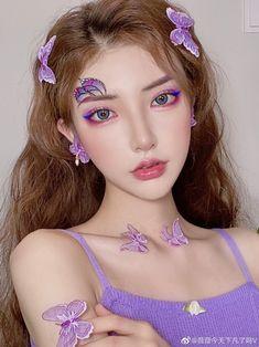 Cool Makeup Looks, Creative Makeup Looks, Cute Makeup, Makeup Art, Beauty Makeup, Korean Beauty Girls, Cute Korean Girl, Aesthetic Makeup, Aesthetic Girl