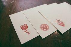 Hipster Letterpress Cards | Harry Diaz