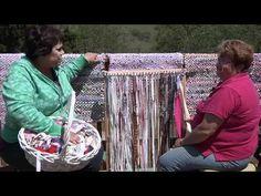 Rag Rug Weaving - YouTube