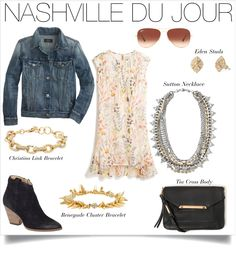 Style with a country edge–the perfect everyday Nashville look.