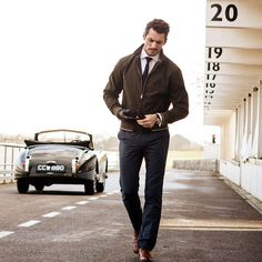 """David Gandy. """"Behind The Wheel"""" for Marks and Spencer Style & Living 2014"""