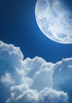 Moon and clouds*