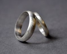 Wedding Rings. Wedding Band Set. Holiday Rings. Modern Contemporary Simple Sleek Elegant Design. Sterling Silver. Jewellery. Jewelry.. $132.00, via Etsy.