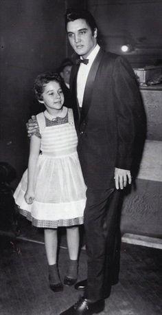 Brenda Lee with Elvis Presley at the Ryman Auditorium, 1957.