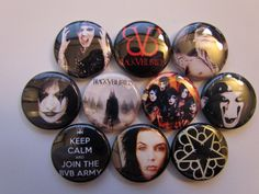 BVB Black Veil Brides Pinback Buttons Badges Pins (10 Pin Pack)    Each button is one inch across. See the second picture for size.    Pack of 10