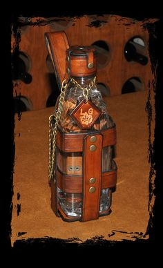 leather water bottle for larp