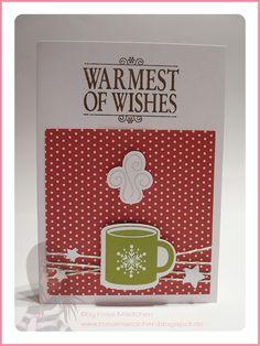 Stampin' Up! Rosa Mädchen Weihnachtskarte mit Scentsational Season und Warmest of Wishes