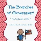 This is a two-page, cut and paste activity for the branches of government $1.00