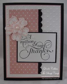 million & one stamp cards | Since I was in a hurry to make my card for the sketch I thought I ...