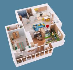 dollhouse-view-floor-plan