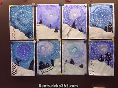 Atemberaubende Schnee, Kinderhandwerk You are in the right place about Art Education preschool Here we offer you the most beautiful pictures about the Art Educa Winter Art Projects, School Art Projects, Middle School Art, Art School, Landscape Art Lessons, Canvas Painting Tutorials, Josef Albers, Winter Painting, Ecole Art