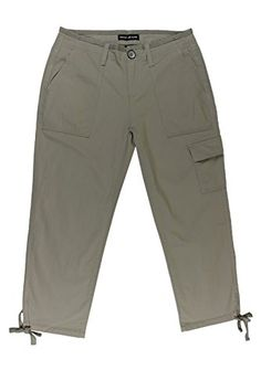 467aacb6ba76a DKNY Jeans Womens Brown Cropped Cargo Pants 2 -- Learn more by visiting the  image