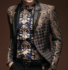 The Best Luxury Fashion Deals Mens Paisley Blazer, Mens Paisley Shirts, Blazer Fashion, Mens Fashion Suits, Baroque Fashion, Luxury Fashion, Fashion Deals, High Fashion, Designer Suits For Men