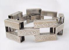 ART DECO Sterling Silver Bracelet #Unbranded #ArtDeco