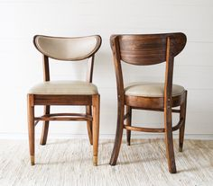RESERVED FOR KATIE - Set of 6 Mid Century Dining Chairs in Dark Walnut Custom Refinished by TeamSuttonDesigns on Etsy
