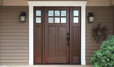 Fiberglass Doors Staining Guide | Old Masters Staining Fiberglass Door, Fiberglass Entry Doors, Deck Box, Wood Exterior Door, Exterior Paint, Stained Front Door, Masters, Wood Front Doors, Rustic Doors